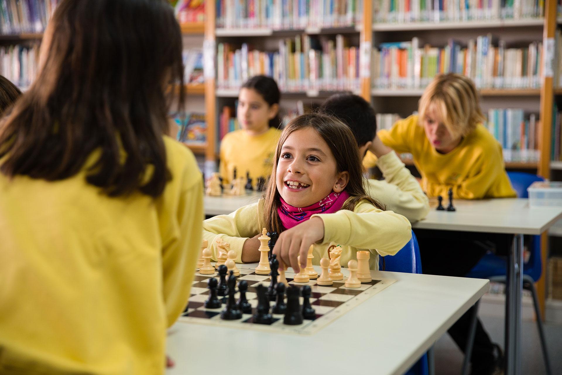 Activitat d'escacs, sudokus, jeroglífics... Col·legi Sant Vicenç