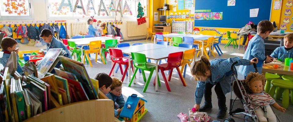 Aules d'infantill. Col·legi Sant Vicenç